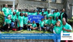 BE volunteers at Comcast Cares Day