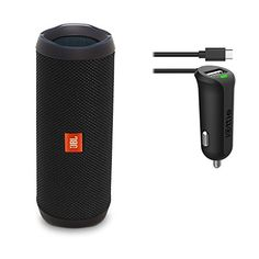 JBL Flip 4 Waterproof Portable Bluetooth Speaker Black Car Charger Bundle      Learn more by visiting the image link-affiliate link. b093a4dd4355