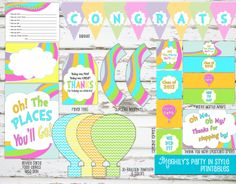 INSTANT DOWNLOAD  Oh The Places You'll Go GRADUATION by Meghilys, $15.00