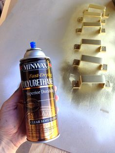I repeated the same process with my beloved Design Master Gold Metal spray paint. Man, this gold is perfect! The paint is a great quality, but the color is spot-on for what we're all looking for in brass-like hardware, especially after it fully dries.
