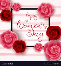 Happy womens day vector image on VectorStock Happy Woman Day, Happy Women, Happy Mothers Day, Women's Day 8 March, 8th Of March, International Womens Day Quotes, Day Wishes, Ladies Day, Beautiful Pictures