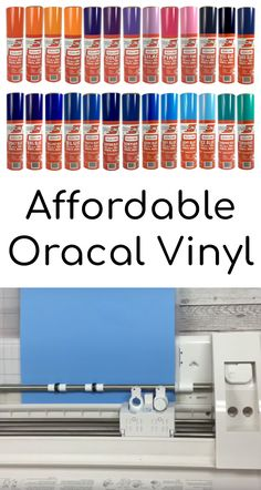 Craftables permanent adhesive-backed vinyl is available in a range of gloss and matte colors. Embellish glass, wood, and more with these adhesive vinyl rolls! Silhouette Vinyl, Silhouette Machine, Silhouette Cameo Projects, Cricut Vinyl, Buy Vinyl, Cheap Vinyl, Cricut Air, Cricut Stencils, Cricut Help