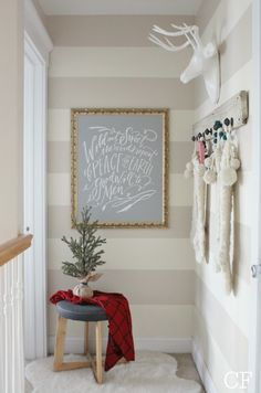 Wild + Sweet- Linsay Letters Holiday 2014 Christmas Love, All Things Christmas, Christmas Holidays, Christmas Crafts, Christmas Decorations, Christmas Canvas, Christmas Hallway, Christmas Ideas, Holiday Canvas