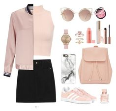 """""""Lovely pink"""" by han-nastya on Polyvore featuring мода, WearAll, adidas Originals, New Look, Casetify, MANGO, Topshop, Miss Selfridge, Accessorize и Maison Francis Kurkdjian"""
