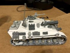 #deathkorpsofkrieg #wh40k 3rd rebuild of the PantheRuss, less toonish, lower and longer profile, flush turret