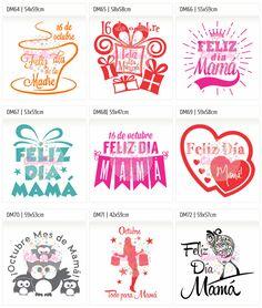 Vinilo Autoadhesivo, Carteles, Liquidacion, Rebajas, vidrieras, dia de la madre, stickers, ploteos Mother's Day Diy, Mom Day, Smash Book, Happy Mothers Day, Silhouette Cameo, Stencils, Printables, Scrapbook, Diy Crafts