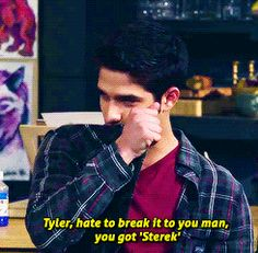 That time Tyler was shocked to find out he had developed a serious case of Sterek.
