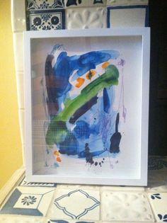 Abstract watercolor 11x14 Theresa Benavidez Art
