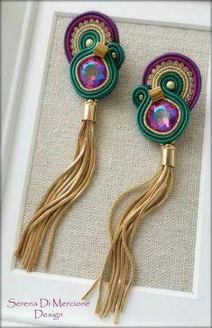 Soutache Earrings, Diy Earrings, Pearl Earrings, Diy Jewelry, Jewelery, Handmade Jewelry, Jewelry Making, Imitation Jewelry, Diy Accessories