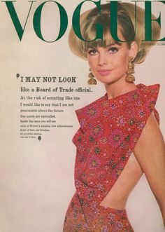 Jean Shrimpton on the September issue of British Vogue magazine, United Kingdom, photograph by David Bailey. Jean Shrimpton, David Bailey, Fashion Images, Fashion Photo, Vintage Glam, Vintage Fashion, Vintage Vogue Covers, Jane Asher, Vogue Magazine Covers