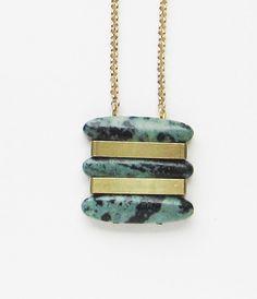 NEW  Jasper trio necklace by sewasong on Etsy, €30.00