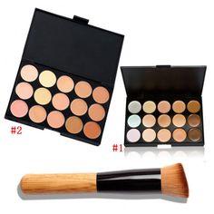 15 Color Fashion Women Professional Makeup Cosmetic Contour Concealer Palette Make Up+Concealer Brush ETS88|f39b76ed-68b4-46e1-a710-813103debad9|Makeup Sets