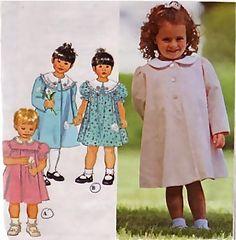 Child's COAT & DRESS Sewing Pattern - Toddler Children Dresses Coats - OOP