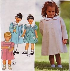 Child's COAT & DRESS Sewing Pattern - Toddler Children Dresses Coats - OOP