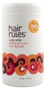 Curly Whip Styling for curly and kinky textures Curly whip's protein-enriched formula tames frizz and protects curls from humidity, keeping them soft, supple and shiny. Controls and defines wiry curls without crunch, infusing them with essential moisture.