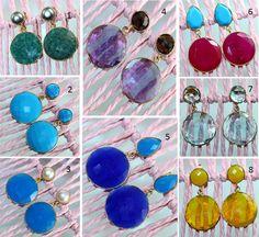 Sale Amethyst,Topaz,Quartz & Others Gemstone 24k Gold Plated Earring Jewelry 07 #Handmade #DropDangle