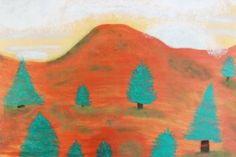 "Saatchi Art Artist ConnieAnn LaPointe; Painting, ""Metallic Landscape"" #art"