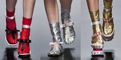 Not even Prada can pull off the socks with sandals look.
