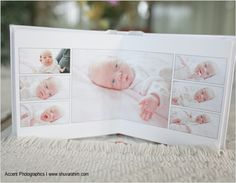 Newborn album layout
