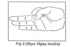 """VAYU MUDRA En la medicina ayurveda se cuentan 51 clases de """"aires"""", que pueden producir numerosos trastornos en todas las partes del cuerpo: gota, ciática, reuma, dolor de rodilla, temblor de manos, cuello y cabeza."""