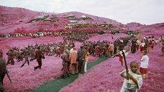 This incredible collection of photos entitled INFRAfrom Eastern Congo was shot by photographer Richard Mosse using discontinued Kodak Aerochrome film. Mosse chose this infrared film to intentionally subvert traditional photos Infrared Photography, Camera Photography, Photography 2017, Congo, Richard Mosse, Magenta, Medium Format Photography, Colossal Art, African Countries