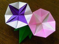 夏にピッタリ!折り紙で「あさがお」を作る方法 | nanapi [ナナピ]