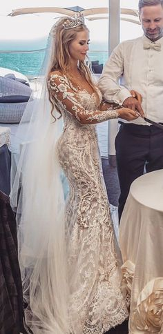 Haute couture wedding dresses like this can be replicated in a price range . - Haute couture wedding dresses like this can be replicated in a price range that you … - Custom Wedding Dress, Dream Wedding Dresses, Bridal Dresses, Couture Wedding Gowns, Couture Dresses, Fashion Dresses, Magical Wedding, Perfect Wedding, Long Sleeve Wedding