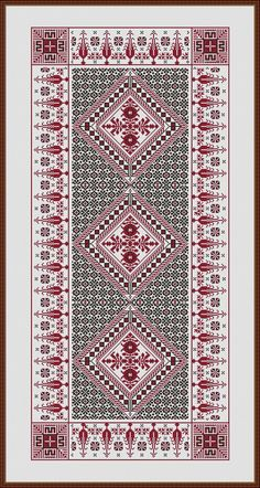 Triple Tiny Cross Stitch, Cat Cross Stitches, Cross Stitch Borders, Cross Stitch Designs, Cross Stitching, Cross Stitch Embroidery, Cross Stitch Patterns, Crochet Patterns, Palestinian Embroidery
