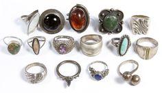 Cheap Silver Rings For Women Silver Jewelry Box, Funky Jewelry, Hippie Jewelry, Cute Jewelry, Jewelry Rings, Jewelry Accessories, Jewelry Design, Silver Earrings, Onyx Necklace