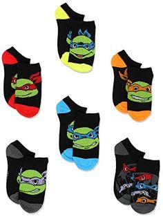 5585cd0ec492 TMNT Teenage Mutant Ninja Turtles Boys 6 pk Ankle Socks (... https