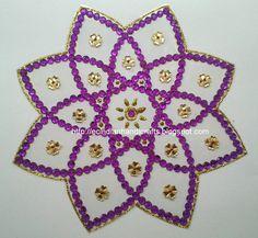 EC Indian Handicrafts' (Customised kundan rangolis): Small gift item kundan rangoli