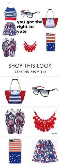 """""""you got the right to vote"""" by daniyah-salter ❤ liked on Polyvore featuring BOSS Orange, IPANEMA, Alexa Starr, Casetify, House of Holland and Vika Gazinskaya"""