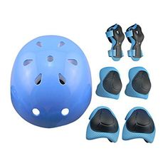 Package Content: .1 Pair x Knee Pad .1 Pair x Elbow Support .1 Pair x Wrist Pad .1 x Helmet Product Features: .7pcs Set of children knee support, wrist gurad, elbow pads and helmet, bring your kids all-round protection .Strong impact resistance, air vent design, breathable, makes kids feel... more details available at https://perfect-gifts.bestselleroutlets.com/gifts-for-babies/kids-bikes-accessories/product-review-for-7pcs-sports-protective-gear-for-kidsruiyif-elbow-pads-kne