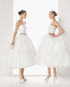 Vestidos de noiva curtos da coleção Rosa Clara   Tea-length wedding dresses Rosa Clara