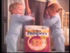 Pampers Disposable Diapers - All In A Days Work - UK Version - Commercial - 1988 http://www.pampers.com/globalsplash