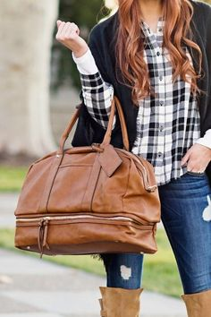 "The perfect carry-on travel tote with a bottom compartment that""s great for shoes!"