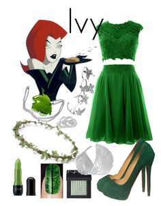 """""""Poison ivy modern look"""" by disneydreamdress ❤ liked on Polyvore featuring Christian Louboutin, Nicka K, NARS Cosmetics and modern"""
