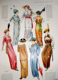June 1913 Fashion, The Woman's Magazine. I really like the suits from this year, not so much the weird hats. Blanche