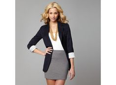 business casual...with longer skirt, please