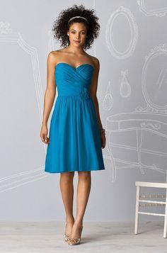 After Six 6609 Bridesmaid Dress in Cerulean | Weddington Way ---- pretty!!