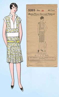 1920s VTG Ladies Home Journal Sewing Pattern 5393 FF Misses Flapper Dress Sz 36B in Collectibles, Sewing (1930-Now), Patterns, Women | eBay