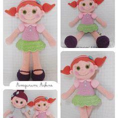 Amigurumi Büyük Safiş Bebek Yapılışı-Amigurumi Free Pattern Doll - Tiny Mini Design