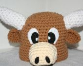 Longhorn steer hat for baby - very cute and unique handmade animal hat  - Currently made to order. $24.00, via Etsy.    omg. too stinkin cute