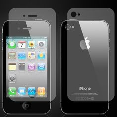 iPhone 4 / Screen Protector (Front and Back) - Screen Protectors - iPhone - iPhone iPad iPod Accessories Iphone 4s, Apple Iphone, Iphone Cases, Mobile Accessories, Iphone Accessories, Screen Guard, Electric Power, Screen Protector, Ipod
