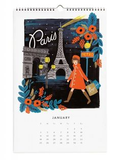 2015 Travel the World wall calendar from Rifle Paper Co.