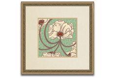 Cleo Aqua Print III on OneKingsLane.com