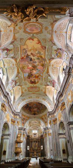 Basilika Sonntagberg mit wundervollen barocken Fresken von Daniel Gran Berg, Painting, Baroque, Painting Art, Paintings, Drawings