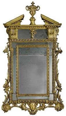 The opulent English furniture style known as Palladian emerged during the early and mid Georgian periods but it stands in marked contrast . Georgian Interiors, Georgian Homes, Fancy Mirrors, Antique Mirrors, Mirror Image, Mirror Mirror, Georgian Furniture, English Interior, Mirror House