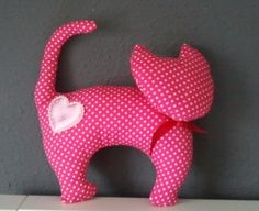 DIY cat pink fabric