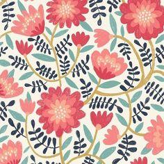 lauraleemayes New iPad pattern #surfacepattern #patternplay #surfacedesign #procreate #art #nature #flowers #surfacespatterns